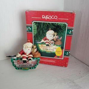 Enesco XMAS Ornament Santa Clause Brightens Up